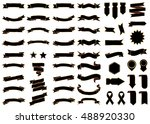 banner black vector icon set on ... | Shutterstock .eps vector #488920330
