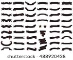 banner black vector icon set on ... | Shutterstock .eps vector #488920438