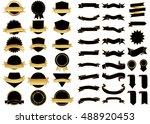 banner black vector icon set on ... | Shutterstock .eps vector #488920453