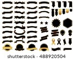 ribbon black vector icon on... | Shutterstock .eps vector #488920504