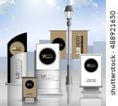 classic brown outdoor... | Shutterstock .eps vector #488921650
