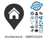 realty map marker pictograph... | Shutterstock .eps vector #488923324