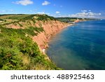 View Of Sidmouth In East Devon...
