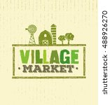 village market rough stamp... | Shutterstock .eps vector #488926270