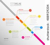 vector infographic diagonal... | Shutterstock .eps vector #488929204