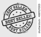 best seller rubber stamp... | Shutterstock .eps vector #488929303