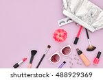 fashion cosmetic makeup. woman... | Shutterstock . vector #488929369