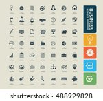business and office icon set... | Shutterstock .eps vector #488929828