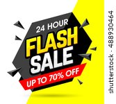 24 hour flash sale banner  save ... | Shutterstock .eps vector #488930464