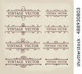 calligraphic design elements.... | Shutterstock .eps vector #488930803