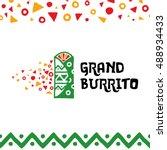 grand burrito logo design... | Shutterstock .eps vector #488934433