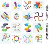 infographics  business template ... | Shutterstock .eps vector #488941003