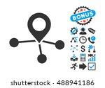 locations icon with bonus clip... | Shutterstock .eps vector #488941186