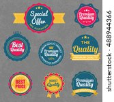 vintage retro flat badges... | Shutterstock .eps vector #488944366