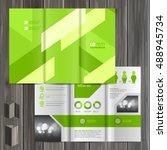 green brochure template design... | Shutterstock .eps vector #488945734