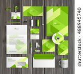 green corporate identity... | Shutterstock .eps vector #488945740