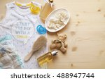 baby bath time | Shutterstock . vector #488947744