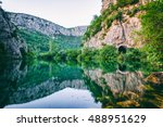beautiful green canyon of the... | Shutterstock . vector #488951629