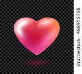 red heart balloon isolated on... | Shutterstock .eps vector #488953738