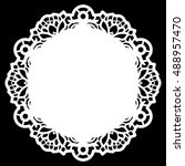 lace round paper doily  lacy... | Shutterstock .eps vector #488957470
