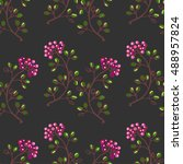 seamless pattern with... | Shutterstock .eps vector #488957824