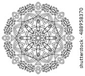 black and white geometric... | Shutterstock .eps vector #488958370