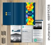 blue creative brochure template ... | Shutterstock .eps vector #488959258