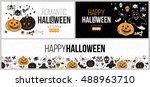 halloween party poster  flyer ... | Shutterstock .eps vector #488963710