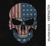 skull isolated on black... | Shutterstock .eps vector #488966704