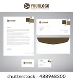 white classic corporate... | Shutterstock .eps vector #488968300