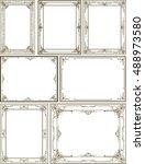 set of vector design decoration ... | Shutterstock .eps vector #488973580