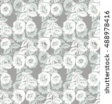 seamless floral pattern for... | Shutterstock .eps vector #488978416