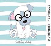 Cute Little Dog Vector...