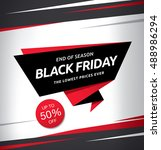black friday sale banner | Shutterstock .eps vector #488986294