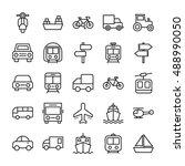 transport vector icons 3 | Shutterstock .eps vector #488990050
