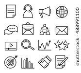 vector business icon set. | Shutterstock .eps vector #488991100