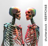 a couple of polygonal skeleton... | Shutterstock .eps vector #488992468