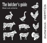 meat symbols vector... | Shutterstock .eps vector #488997226