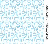 vector seamless pattern with... | Shutterstock .eps vector #488998054