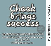 vector motivation card with set ... | Shutterstock .eps vector #489001666