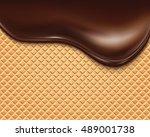 chocolate streams  | Shutterstock .eps vector #489001738