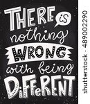 there is nothing wrong with... | Shutterstock .eps vector #489002290