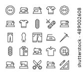sewing vector icons 1 | Shutterstock .eps vector #489002608