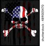 skull t shirt graphic design | Shutterstock .eps vector #489005470
