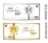 elegant gift card or gift... | Shutterstock .eps vector #489007120