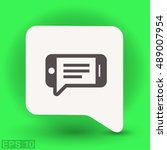 pictograph of message or chat... | Shutterstock .eps vector #489007954