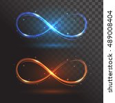 blue and orange signs infinity... | Shutterstock .eps vector #489008404