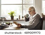 reading relaxation pension... | Shutterstock . vector #489009970