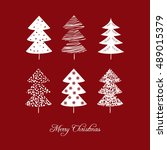 christmas card with christmas... | Shutterstock .eps vector #489015379