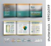 classic business brochure...   Shutterstock .eps vector #489016549